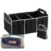 Wholesale accessories storage bag resale online - Foldable Car Organizer Boot Stuff Food Storage Bags Bag Case Box trunk organiser Automobile Stowing Tidying Interior Accessories Collapsible