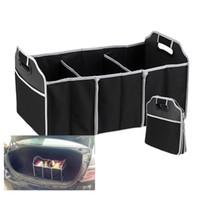 ingrosso scatola dell'organizzatore degli accessori-Pieghevole per auto Organizer Boot Stuff Cibo Storage Bags Borsa Case Box tronco Organizer Automobile Stowing Riordinare Accessori interni Pieghevole