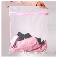 Wholesale by DHL New Clothes Laundry Lingerie Mesh Net Care Wash Bag Laundry Hamper X50CM RJ1217 dd