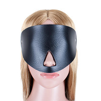 Wholesale Nose Toy Sex - Fetish Eye Mask PU Leather Blindfold Open Nose Mask Adult Products Bondage Female Sex Toys Restraint Blinder For Couples Game