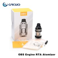 Wholesale Rebuilt Engines - Authentic OBS Engine RTA Tank 5.2ml Top Filling and Airflow Isolated Rebuild Deck Full Glass Window Atomizer