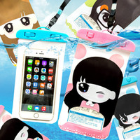 """Wholesale Case Touch Screen Galaxy S3 - 5.5""""Universal Cute cartoon girl Waterproof Screen Touch Bag Case Cover For Samsung Galaxy S3 S4 S5 S6 edge Waterproof bag"""