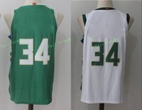 Wholesale New Arrival Boys Shorts - 2017-18 New season #34 giannis antetokounmpo New Arrival swingman Basketball Jerseys Green White Jersey S-3XL 44-56 free shipping Mix order