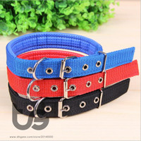 Wholesale Strap Big Dog - Regulated 32-42cm Length Dual Layer Super Comfort Foam Cotton Nylon Strap Pet Collar for Small and Big Dogs Collars arnes perro