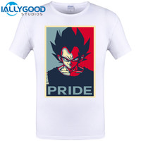 Wholesale Vintage Tee Shirt Designs - Vegeta PRIDE Poster Cool Design Hipster Men Fashion T Shirt O-neck Casual Basic Tops Vintage Super Saiyan Printed Tee Shirts 6XL