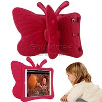 Wholesale Cover For Ipad Table - Cartoon 3D Butterfly Stand Table Case EVA Shockproof cover for iPad Mini 2 3 4 New iPad Kids Safe Case