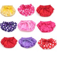 Wholesale Lace Ruffles Girls Clothing - Baby pettiskirt pants infant petto lace briefs ruffle PP underpants toddler girls bloomer clothing High quality