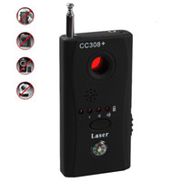 Wholesale Hidden Camera Gsm - 5pcs lot CC308+ Anti-Spy Signal Bug Rf Detector Hidden Camera Lens GSM Device Finder Monitor Full-range Al-round free shipping