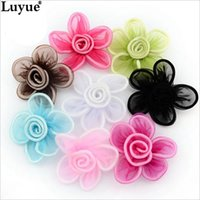 Wholesale Birth Fabric - Handmade Silk Fabric Flowers For Headband Trumpet Flower