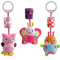 Wholesale Hanging Bell Toys - Wholesale-baby bed hang car bells plush toy baby rattle toy New baby bed hanging plush toy