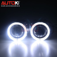 Wholesale Ballast For Hid - Free Shipping 2.5 inches Mini HID Bi xenon Projector Lens Xenon Bulb 4300K-8000K Ballast LED Angel Eye for Car Headlight Kit