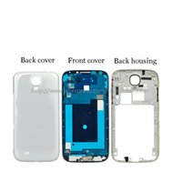 Wholesale S4 Full Cover - Full Set Housing For Samsung Galaxy S4 I9500 i9505 i337 Front Frame +Middle Frame +Back Battery Cover White Black Skyblue Track