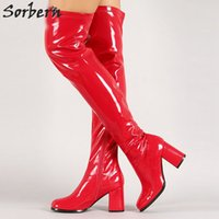 Sorbern Wome Sexy Boots Moda New Spring Otoño Over-The-Knee High Top Señoras elegantes Botas Thin Heels Zapatos de tacón alto Large Plus Size