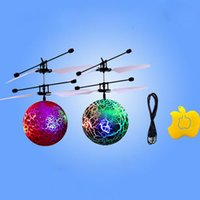 Wholesale Flight Electronics - RC Flying Ball Luminous Kid's Flight Balls Electronic Infrared Induction Aircraft Remote Control Toys LED Light Mini Helicopter