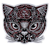 "Wholesale Iron Motorcycle Club - 4"" Sugar Cat patch Outlaw Club Rider Rock Heavy Metal MC Motorcycle biker vest Costume Embroidered iron on badge"