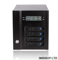 Wholesale Hard Disc Casing - NAS case 4 disc storage Hot plug SAS SATA hard aluminum alloy panel with LCD screen 611864