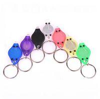 Wholesale Mini Led Flashlight Uv - Factory Sale Purple UV LED Flashlight Mini Keychain ID Currency Passports Detector