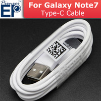 Wholesale Genuine Usb Adapter - EP-DN930CWE Samsung 1.2M white Genuine For Samsung note 7 Original USB Cable Type C 3.1 cable Fast Charger Date Line Sync Cable Adapter