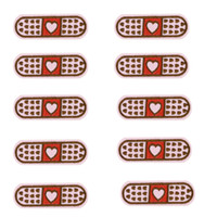 Wholesale Iron For Cloths - 10PCS love band Aid embroidery patches for clothing iron patch for clothes applique sewing accessories badge stickers on cloth iron on patch