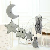 Wholesale Pillows Star Design - Baby Comfortable Pillow 2016 Cartoon Luminescence Star Design For Children Plush Pillow Evening Decorations for Baby Room ER-255