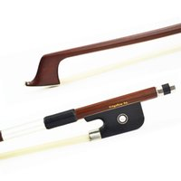 Wholesale Violin Bow Frog Parts - Wholesale- FREE SHIPPING 3 4 Size 310C Brazilwood Cello Bow Good Quality Ebony Frog White Horsehair Straight Violin Parts Accessories