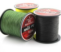 Wholesale Bass Line - 300M 330Yards Multifilament PE Braided Fishing Line 4 stands 8LB 10LB 20LB 60LB Carp Bass Fishing free shipping