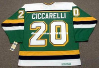 vendita all'ingrosso personalizzato Throwback Mens DINO CICCARELLI Minnesota North Stars 1988 CCM Vintage Away Cheap Retro Hockey Jersey