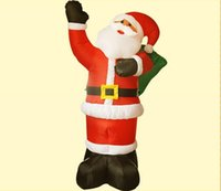 Wholesale 2 m H top quality inflatable Santa Claus for Christmas decoration