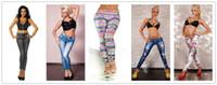 Wholesale Green Leggings Cheap - Fashion pants for women 2016 Printed Leggings Jeans Cheap Denim Spandex Fitness Leggings for Women sexy Fitness Pants trousers Leggings 50