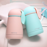 Wholesale Water Bottles For Children - Cartoon Rabbit Modeling Thermo Cup Stainless Steel Girls Thermos bottle For water Thermo Mug Cute Thermal vacuum flask child Tumbler