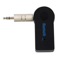bluetooth adapter für hallo fi großhandel-Wholesale-2017 Universal Mini 3,5 mm Streaming Auto Drahtlose Bluetooth Audio Musik Empfänger Adapter Freisprecheinrichtung Auto AUX mit Mikrofon Für Telefon MP3