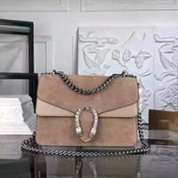 Wholesale High Quality Brands Handbags - High Quality Women Genuine Leather Handbag with Tiger Head Hardware Famous Brand Scrub Cowhide Shoulder Interlayer Purse G07
