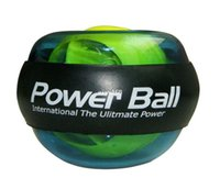 Wholesale wrist power exercise - New Blue PowerBall Gyroscope LED Wrist Strengthener Ball   Wrist Power Force Ball   Arm Exercise Power Ball Free shipping