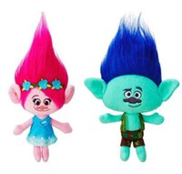 doll 23cm 2018 - 9.2 Inch Trolls Poppy Branch Plush dolls toys 23cm EMS 2 Design children lovely cartoon Poppy Biggie Plush dolls toy B