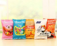 Wholesale Harajuku Case - Wholesale-1PC Harajuku Style Novelty Potato Chips Pencil Bag Women PU Pencil Case Stationery Pencil Bag School Office Supply Escolar