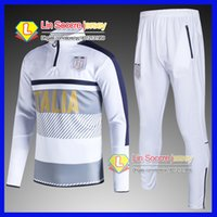 Wholesale Browning Sweat Pants - 2016 national tracksuits 2017 18 best quality survetement football Italy blue white training suit sweat top chandal soccer kit football pant