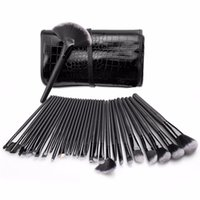 Wholesale makeup for eyebrows - Professional 32 Pcs Makeup Brushes Set for Women Fashion Soft Face Lip Eyebrow Shadow Make Up Brush Set Kit + Pouch Bag Maquiage