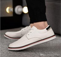 Wholesale White Shoes British - Spring new Korean men casual shoes men's wild British style shoes lazy shoes Wholesale Business shoes free shipping