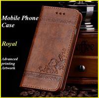 telefono real al por mayor-Royal Funda para teléfono celular para iPhone X Plus Funda con billetera Samsung Galaxy Notes 7 S7 Material de TPU Funda para teléfono celular Paquete al por menor ZPG022