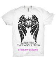 Wholesale Winchester Shirt Xl - Supernatural T Shirt Winchester Brothers Hunters Team Sam Dean Bobby Family TV Fashion Men T-shirt