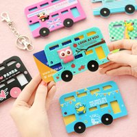 Titulaire gros-Kawaii Cartoon Animals Card Silicone Cover Banque Bus Card Case Id