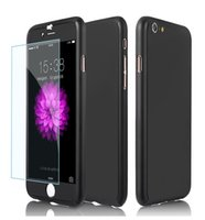 Wholesale Iphone Case Series - [Ultra-thin Series] 2-in-1 Full-body Protective Back Cover [Slim Fit] with Tempered Glass Screen Protector for iPhone 6 6s 7 7 Plus