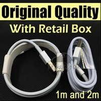 Wholesale Data Cable For Phone - Original Quality 1M 3Ft 2M 5FT Micro USB Cable Sync Data Cable Charging Cords With Retail Box For Phone Samsung Galaxy S6 S7