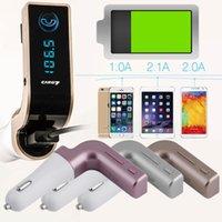 usb flash müzik çalar toptan satış-Çok İşlevli 4-in-1 ARABA G7 USB Flash sürücüler ile Bluetooth FM Verici / TF Müzik Çalar, Bluetooth Araç kiti USB Araç şarj