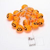 Wholesale Halloween Sites - Halloween pumpkin lights ghost light string decoration Halloween site layout props luminous pumpkin little ghost string lights