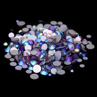 Wholesale Light Amethyst Rhinestones Hotfix - Light Amethyst AB Non Hotfix Crystal Rhinestones SS3-SS10 And Mixed Sizes Glue On Glass Chatons DIY Crafts Garments Supplies