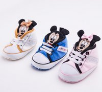 Wholesale Lace Stockings For Toddlers - New cartoon baby shoes lace cheap kids toddler shoes 11CM 12CM 13CM soft-soled shoes for boys and girls in stock 10pair 20pcs B3