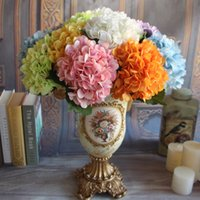 2016 New Yellow French Rose Artificial Silk Peony Flower Arrangement Room Hydrangea Wedding Home Decor Party