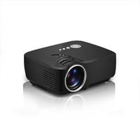 Wholesale home theatre projectors led - Mini Portable Projector GP70 1080P Full HD TV EMP LED 1200 Lumens Home Theatre Beamer Multi-Media Player Video USB SD Easy Micro Projectors