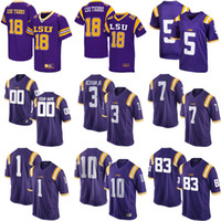 Wholesale Womens Tiger Tops - Hot sale NCAA LSU Tigers 2016 New Top quality Mens Womens Kids 100% stitched Custom Any Name Any No. Cheap College Football Jerseys Purple